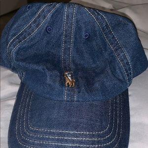 Denim polo hat